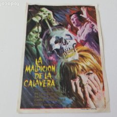 Cine: ANTIGUO PROGRAMA DE CINE - LA MALDICION DE LA CALAVERA - CHRISTOPHER LEE - SIN PUBLICIDAD AÑO 1965. Lote 217828996