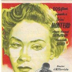 Cine: PN - PROGRAMA DE CINE - HORAS INCIERTAS - TRINI MONTERO - CINE IMPERIAL (MÁLAGA) - 1951.. Lote 217890845