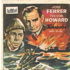 Flyers Publicitaires de films Anciens: PN - PROGRAMA DE CINE - INFIERNO DE LOS HEROES - JOSÉ FERRER - CINE RETIRO (MADRID) - 1955.. Lote 217904405