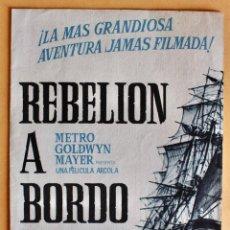 Cine: REBELION A BORDO PROGRAMA DOBLE MGM MARLON BRANDO. Lote 217915032