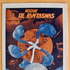Cine: PROGRAMA- NOCHE DE FANTASMAS- BEN LYON / ZASU PITIS / JAMES GLEASON- 1932. Lote 218003212