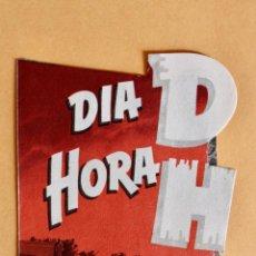 Cine: DÍA D HORA H - DAVID BRIAN, JOHN AGAR - PROGRAMA TROQUELADO - CON PUBLICIDAD. Lote 218003597