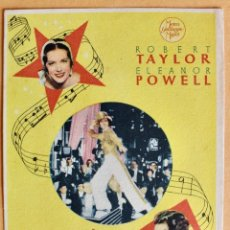 Flyers Publicitaires de films Anciens: LA MELODIA DE BROADWAY 1936. ROBERT TAYLOR, ELEANOR PARKER.. Lote 218005942