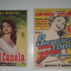 Cine: DOS CARTELES DE MANO CINE AÑOS 70.. Lote 218062152