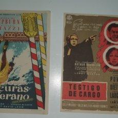 Cine: DOS CARTELES DE MANO CINE AÑOS 70.. Lote 218070471