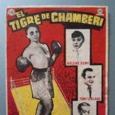 """Cine: PROGRAMA DE MANO """" EL TIGRE DE CHAMBERI """". LEER DESCRIPCIÓN ANTES DE PUJAR O COMPRAR.. Lote 218105953"""