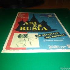 Cine: ANTIGUO PROGRAMA DE CINE ASÍ ES RUSIA. Lote 218116997