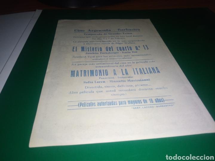 Cine: Antiguo programa cine El misterio del cuarto número 13. Con publicidad cine Argensola de Barbastro - Foto 2 - 218119380