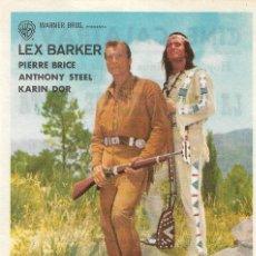 Cine: PN - PROGRAMA DE CINE - LA CARABINA DE PLATA - LEX BARKER - CINE GOYA (MÁLAGA) - 1964.. Lote 218122045