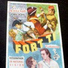 Flyers Publicitaires de films Anciens: PROGRAMA DE CINE - FORT TI - CINE CARMEN DE PALAMÓS - 1954. Lote 218143977