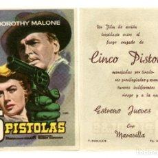 Cine: 5 PISTOLAS, CON DOROTHY MALONE.. Lote 277296233