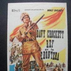 Cine: DAVY CROCKETT, REY DE LA FRONTERA, FESS PARKER, DISNEY. Lote 218263947
