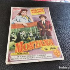 Cine: PROGRAMA DE MANO ORIG - MONTANA - CON CINE DE LOS CARTAGENA. Lote 218294752