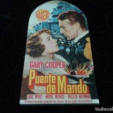 Cine: PUENTE DE MANDO CON GARY COOPER, JANE WYATT, WAYNE MORRIS. Lote 218297460