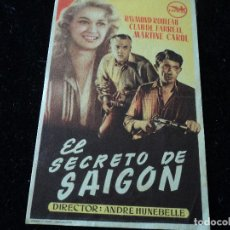 Cine: EL SECRETO DE SAIGON-ANDRE HUNEBELLE-RAYMOND ROULEAU. Lote 218299301
