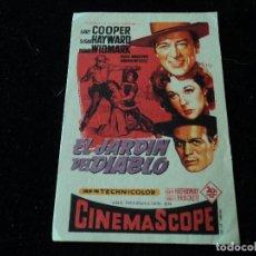 Cine: EL JARDIN DEL DIABLO. GARY COOPER, SUSAN HAYWARD, RICHARD WIDMARK. Lote 218299778