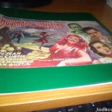 Cine: ANTIGUO PROGRAMA DE CINE GRANDE HUYENDO A SU DESTINO. Lote 218306370