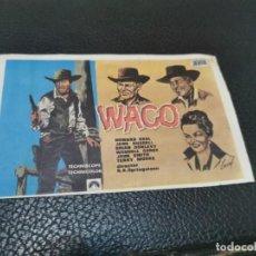 Cine: PROGRAMA DE MANO ORIG - WACO - SIN CINE IMPRESO AL DORSO. Lote 218311943
