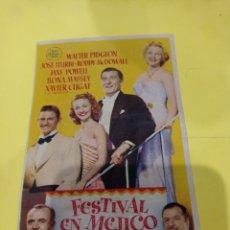 Foglietti di film di film antichi di cinema: ANTIGUO PROGRAMA DE CINE BENISA. FOLLETO DE MANO, PELÍCULA FESTIVAL EN MÉJICO. Lote 218341545