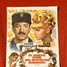 Cine: EL NUEVO CASO DEL INSPECTOR CLOUSEAU (FILM USA 1964) FOLLETO DE MANO - CINE PICAROL (BADALONA) PETER. Lote 218397527