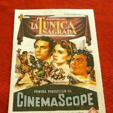 Cine: LA TUNICA SAGRADA (FILM USA 1953) FOLLETO DE MANO - CINE FEMINA DE BARCELONA - RICHARD BURTON MATURE. Lote 218398118
