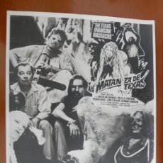 Cine: LA MATANZA DE TEXAS FOLLETO DE MANO MONTAJE ORIGINAL DEL ESTRENO. Lote 218398843