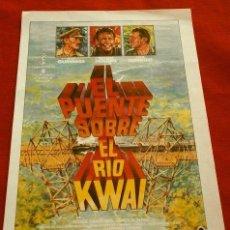Cine: EL PUENTE SOBRE EL RIO KWAI (FILM BÉLICO 1957) FOLLETO DE MANO - REPRODUCCION-. Lote 218400417
