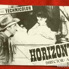 Cine: HORIZONTES LEJANOS (FILM USA 1952) FOLLETO DE MANO - SIN PUBLICIDAD - JAMES STEWART - ANTHONY MANN. Lote 218401540