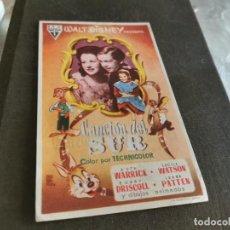 Folhetos de mão de filmes antigos de cinema: PROGRAMA DE MANO ORIG - CANCIÓN DEL SUR - CON CINE DE ORIHUELA IMPRESO AL DORSO. Lote 218407460