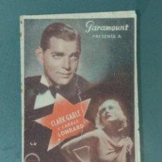 Foglietti di film di film antichi di cinema: CASADA POR AZAR - PROGRAMA DOBLE.. Lote 218433171