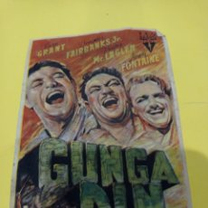 Cine: ANTIGUO PROGRAMA DE CINE. FOLLETO DE MANO, PELÍCULA GUNGA DIN. Lote 218443168
