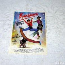 Flyers Publicitaires de films Anciens: FOLLETO DE MANO BREAKDANCE EL EXPLOSIVO BAILE DE LOS 80 - LA PELICULA.10 X 14 CM.. Lote 218447218
