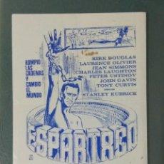 Flyers Publicitaires de films Anciens: ESPARTACO - PROGRAMA SENCILLO COLOR AZUL.. Lote 218537423