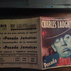 Flyers Publicitaires de films Anciens: PROGRAMA DE CINE DOBLE. POSADA JAMAICA. CINE IMPRESO. Lote 218558703