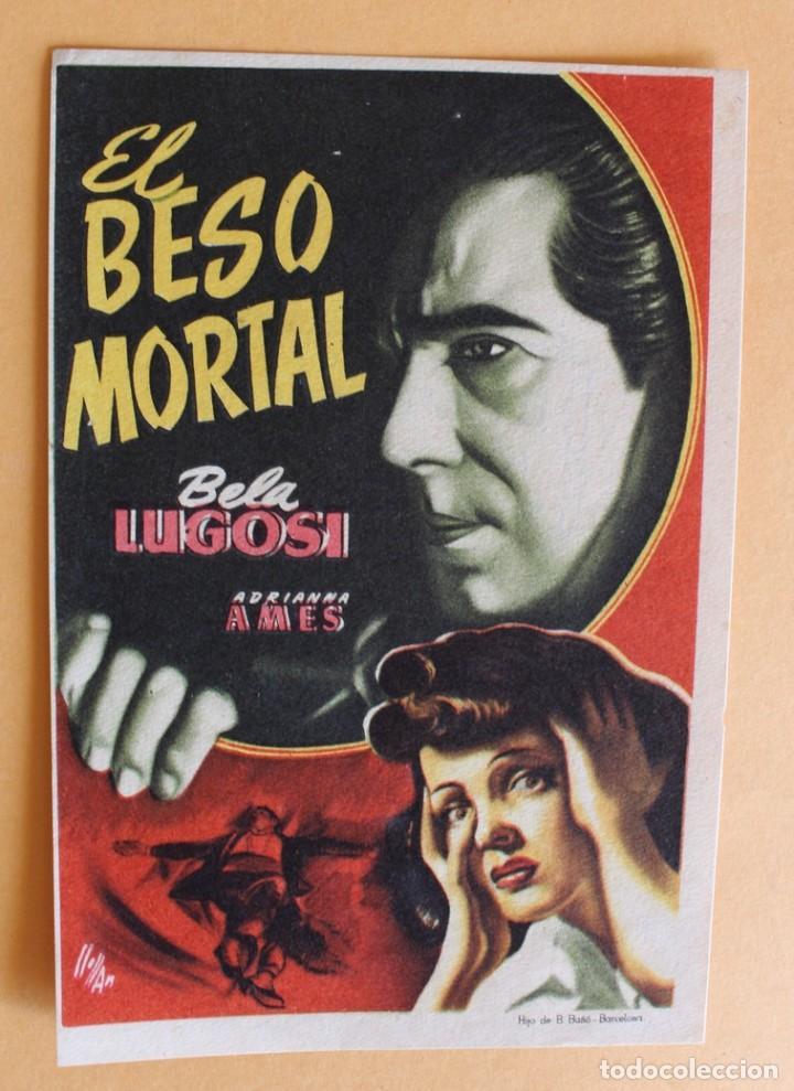 EL BESO MORTAL, BELA LUGOSI (Cine - Folletos de Mano - Terror)