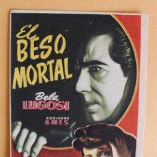 Cine: EL BESO MORTAL, BELA LUGOSI. Lote 218559008