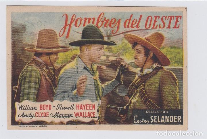 HOMBRES DEL OESTE. PROGRAMA DE CINE. SENCILLO CON PUBLICIDAD. CINE SAN CARLOS. CÁDIZ. (Cine - Folletos de Mano - Westerns)