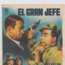 Cine: EL GRAN JEFE. PROGRAMA DE CINE. SENCILLO CON PUBLICIDAD. CINE MUNICIPAL. CÁDIZ.. Lote 218595767