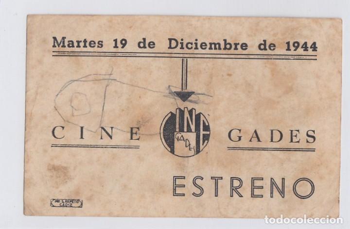 Cine: Música en el aire. Programa de cine. Sencillo con publicidad. Cine Gades. Cádiz. - Foto 2 - 218613303