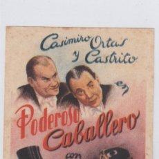 Cine: PODEROSO CABALLERO. PROGRAMA DE CINE. SENCILLO SIN PUBLICIDAD.. Lote 218634548