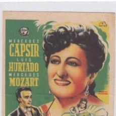 Cine: RETORNO. PROGRAMA DE CINE. SENCILLO CON PUBLICIDAD. CINE MUNICIPAL. CÁDIZ.. Lote 218636156