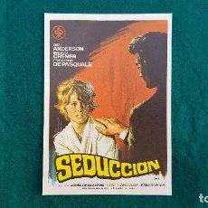 Flyers Publicitaires de films Anciens: PROGRAMA DE MANO CINE SEDUCCION (1970) CON CINE AL DORSO. Lote 218654352