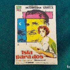 Flyers Publicitaires de films Anciens: PROGRAMA DE MANO CINE ISLA PARA DOS (1964) CON CINE AL DORSO. Lote 218654530
