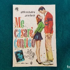 Flyers Publicitaires de films Anciens: PROGRAMA DE MANO CINE ME CASARE CONTIGO (1963) CON CINE AL DORSO. Lote 218654647