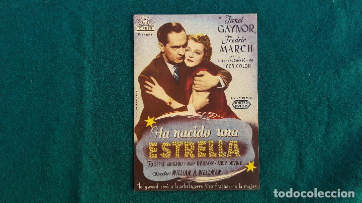 PROGRAMA DE MANO CINE HA NACIDO UNA ESTRELLA (1947) CON CINE AL DORSO (Cine - Folletos de Mano - Musicales)