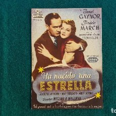 Cine: PROGRAMA DE MANO CINE HA NACIDO UNA ESTRELLA (1947) CON CINE AL DORSO. Lote 218658492