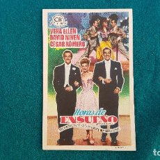 Cine: PROGRAMA DE MANO CINE HORAS DE ENSUEÑO (1952) CON CINE AL DORSO. Lote 218659016