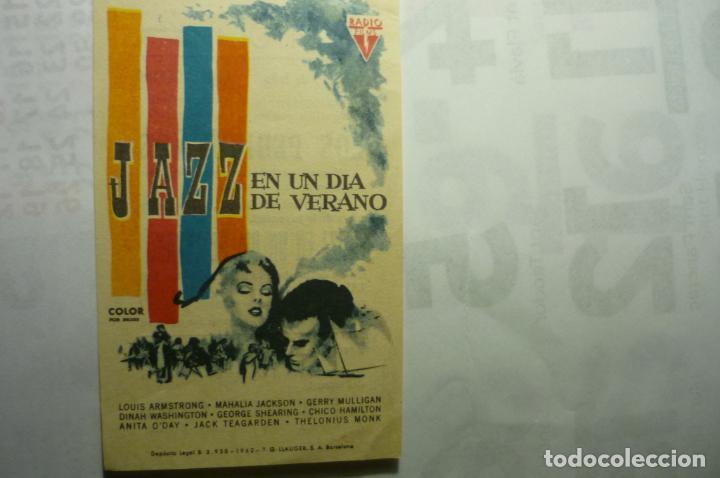 PROGRAMA JAZZ EN UN DIA DE VERANO (Cine - Folletos de Mano - Musicales)