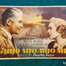 Flyers Publicitaires de films Anciens: PROGRAMA DE MANO CINE ¡HIJO MIO, HIJO MIO! - CON CINE AL DORSO. Lote 218662383