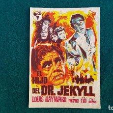 Cine: PROGRAMA DE MANO CINE EL HIJO DEL DR. JEKYLL - CON CINE AL DORSO. Lote 218669261